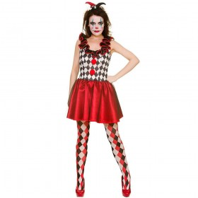 Harlequin Jester Fancy Dress Costume