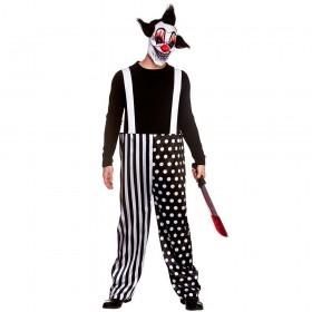 Sinister Clown One Size & Mask Costume