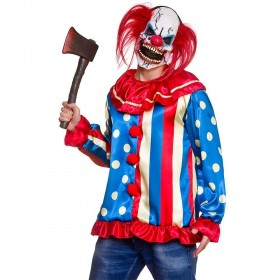 Krazy Killer Clown One Size & Mask Costume
