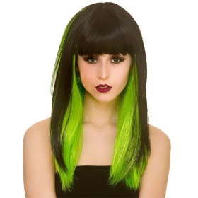 Dark Fantasy - Black / Green Wigs