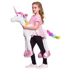 Ride On Fantasy Rainbow Unicorn One Size Animal Costume