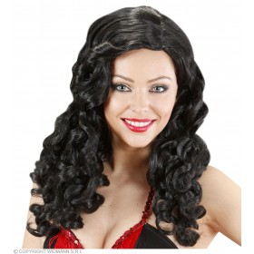 Ladies Jessica Wig (Long Curly Hair) - Black Wigs - (Black)