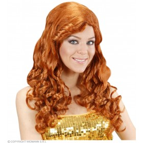 Ladies Jessica Wig (Long Curly Hair) - Red Wigs - (Red)