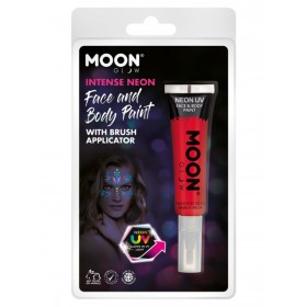 Moon Glow Intense Neon UV Face Paint Red