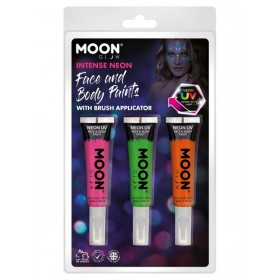 Moon Glow Intense Neon UV Face Paint and Brush