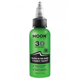Moon Glow - Glow in the Dark Fabric Paint Green