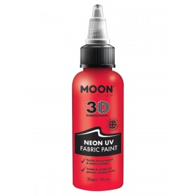 Moon Glow - Neon UV Intense Fabric Paint Red