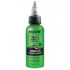 Moon Glow - Neon UV Intense Fabric Paint Green