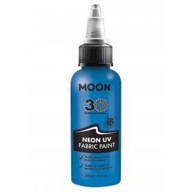 Moon Glow - Neon UV Intense Fabric Paint Blue