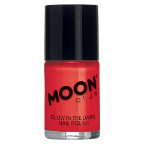 Moon Glow - Glow in the Dark Nail Polish Red