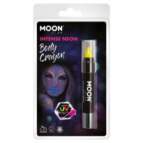 Moon Glow Intense Neon UV Body Crayons Yellow