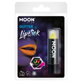 Moon Glow - Neon UV Glitter Lipstick Yellow