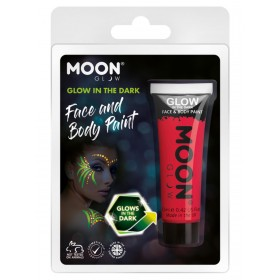 Moon Glow - Glow in the Dark Face Paint Red