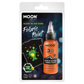 Moon Glow - Glow in the Dark Fabric Paint Orange