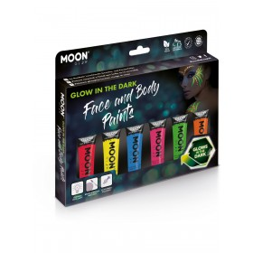 Moon Glow - Glow in the Dark Face Paint Assorted