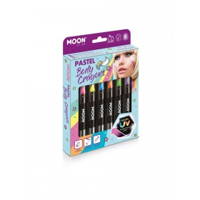 Moon Glow Pastel Neon UV Body Crayons Assorted