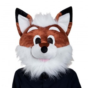 Fox Head Adult Animal Masks