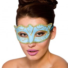 Verona Eye Mask - Blue & Gold Eyemasks