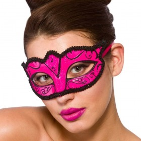 Verona Eye Mask - Pink & Black Eyemasks
