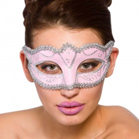 Verona Eye Mask - Pink & Silver Eyemasks