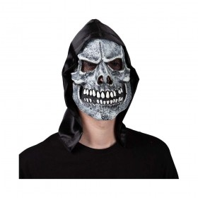 Skeleton Reaper Mask with Hood Halloween Masks