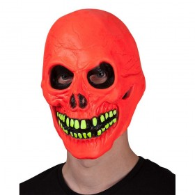 U.V Neon Skull Scary Halloween Mask