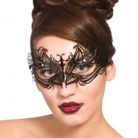 Filigree Eye Mask - Black Eyemasks