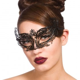 Filigree Eye Mask Ornate - Black Eyemasks