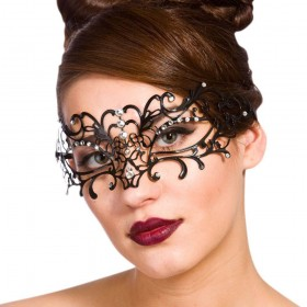 Filigree Eye Mask - Black - Black / Diamantes Eyemasks