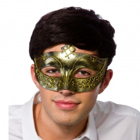 Gladiator Eye mask - Antique Gold Masks