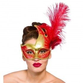 Revello Eye Mask - Gold & Red Eyemasks