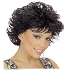 Wet Look Wig Black - Fancy Dress