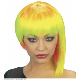 Neon Neo Punk Wig - Fancy Dress