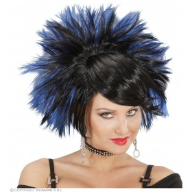 Rock Princess Wig - Black/Blue - Fancy Dress