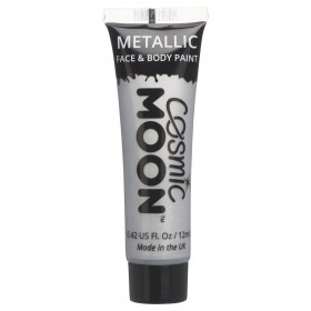 Cosmic Moon Metallic Face & Body Paint Silver