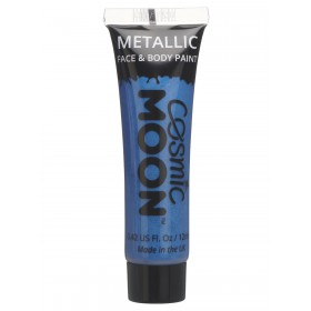 Cosmic Moon Metallic Face & Body Paint Blue
