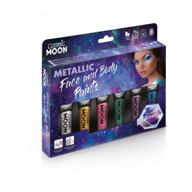 Cosmic Moon Metallic Face & Body Paint Assorted