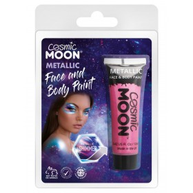 Cosmic Moon Metallic Face & Body Paint Pink
