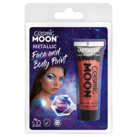 Cosmic Moon Metallic Face & Body Paint Red