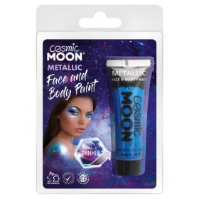 Cosmic Moon Matallic Face & Body Paint Blue