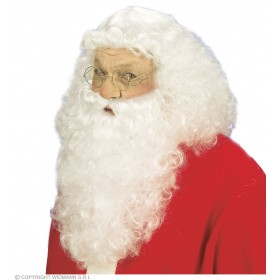 Santa Claus Wig/Beard Deluxe Fancy Dress Costume (Christmas)