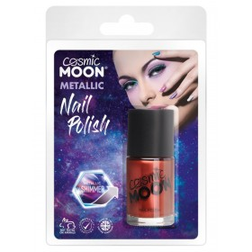 Cosmic Moon Metallic Nail Polish Red