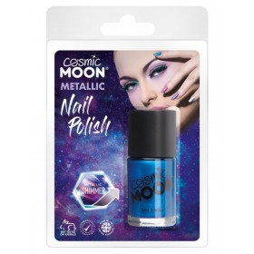 Cosmic Moon Metallic Nail Polish Blue