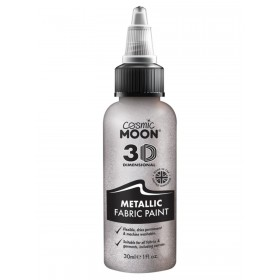 Cosmic Moon Metallic Fabric Paint Silver