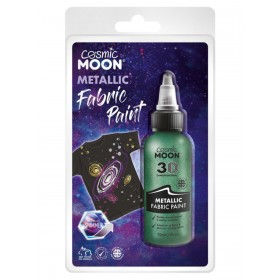 Cosmic Moon Metallic Fabric Paint Green