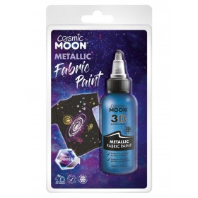 Cosmic Moon Metallic fabric Paint Blue