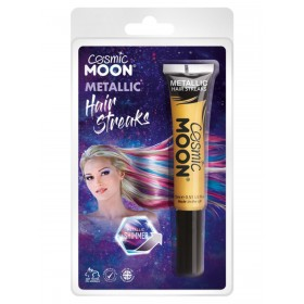 Cosmic Moon Metallic Hair Streaks Gold