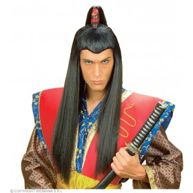 Samurai Wig Long - Fancy Dress (Oriental)