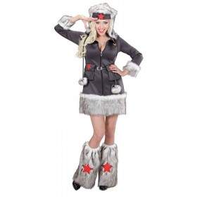 Ladies Nikita Russian Soldier Girl Fancy Dress Costume