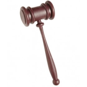 Brown Gavel (Judge'S Hammer) Fancy Dress Accessory